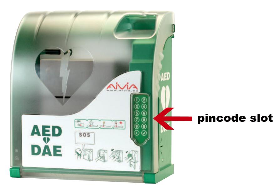 Aivia 210 Aed Buitenkast Verwarmd Alarm Pincode