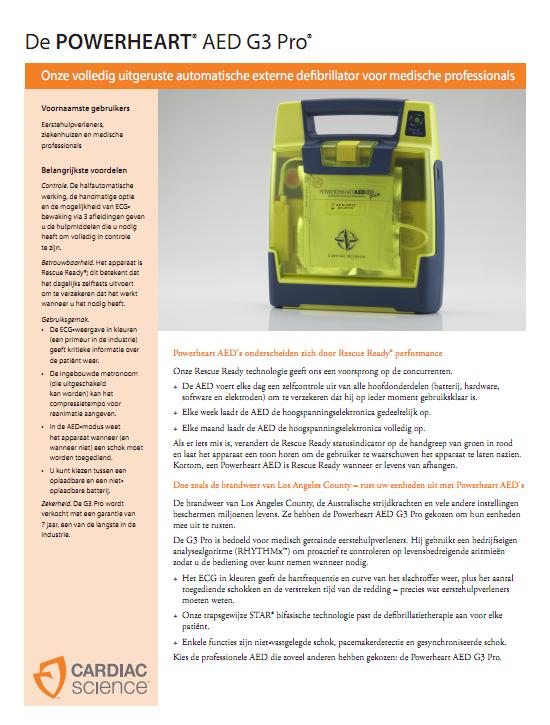 Brochure Cardiac Science Powerheart G3 PRO AED