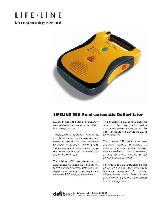 Brochure Defibtech Lifeline AED