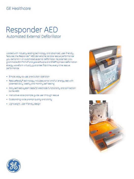 Brochure GE Responder AED