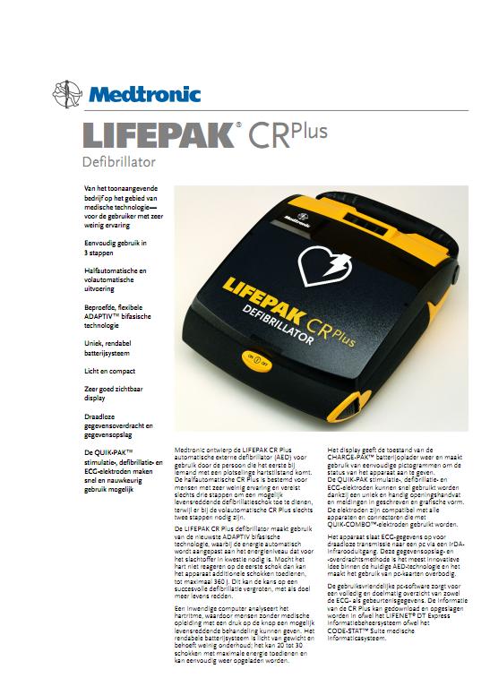 Brochure Medtronic Lifepak CR PLUS AED