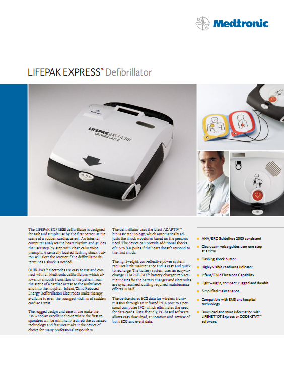 Brochure Medtronic Lifepak Express AED