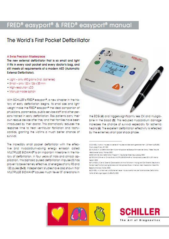 Brochure Schiller Fred Easyport AED