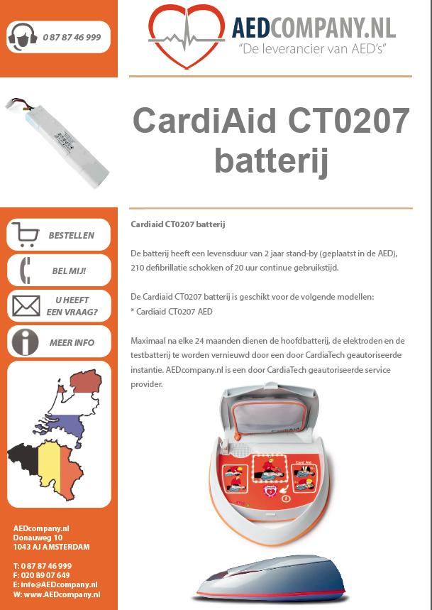 CardiAid CT0207 batterij CA-4bp brochure