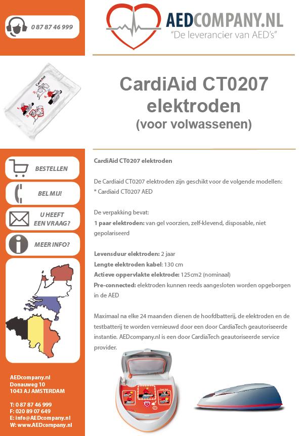 CardiAid CT0207 elektroden (voor volwassenen) brochure