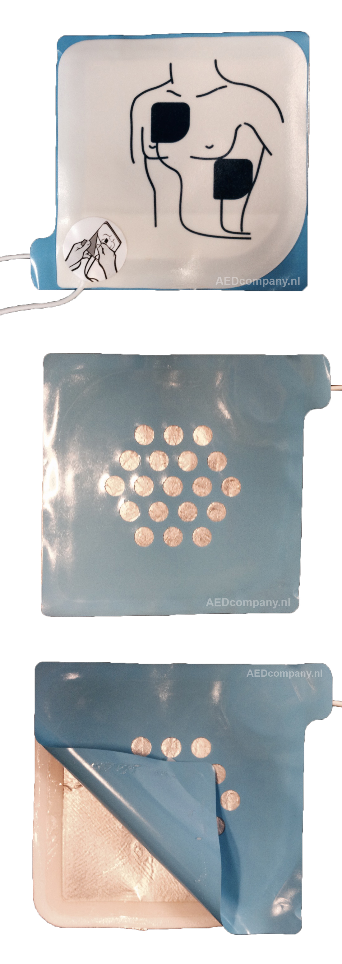 GE Responder elektroden 9131-001met blauw tussen vel