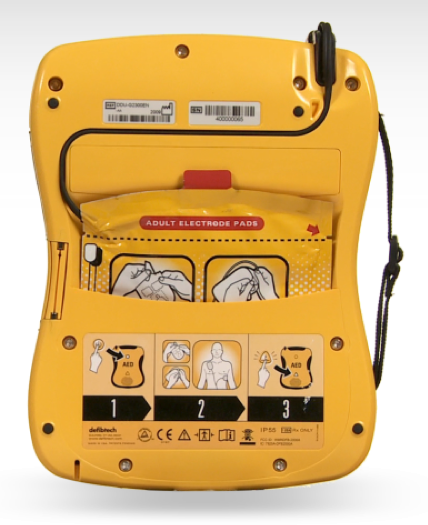 Defibtech Lifeline VIEW achterkant pre-connected elektroden