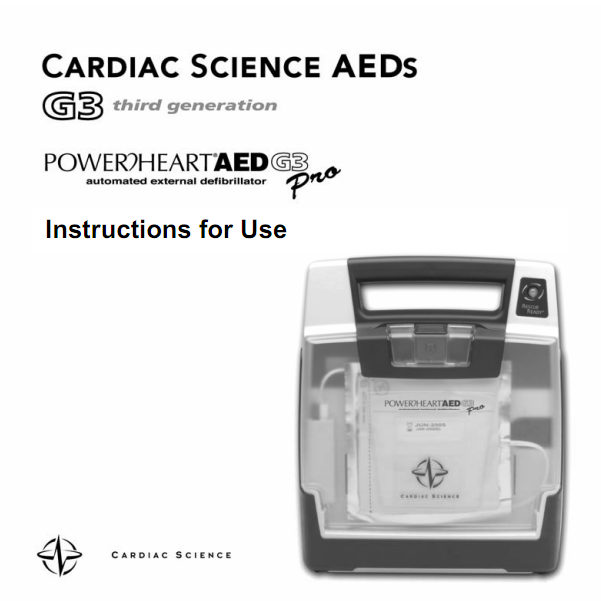 Handleiding Cardiac Science Powerheart G3 PRO AED