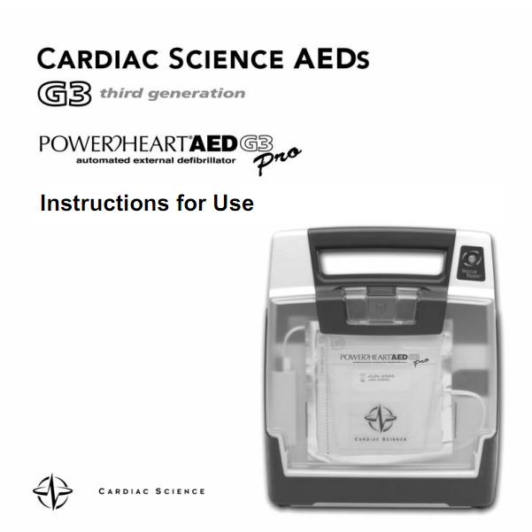Handleiding Cardiac Science Powerheart G3 PRO AED