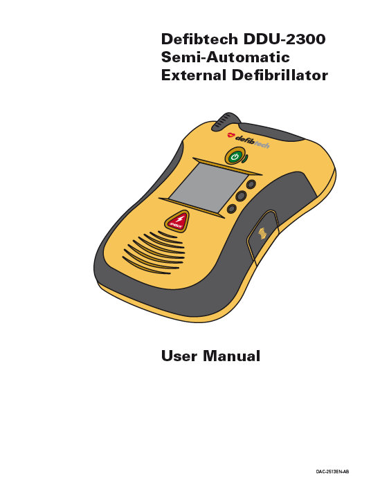 Handleiding Defibtech Lifeline VIEW AED