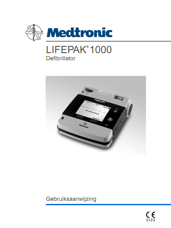 Handleiding Medtronic Lifepak 1000 AED