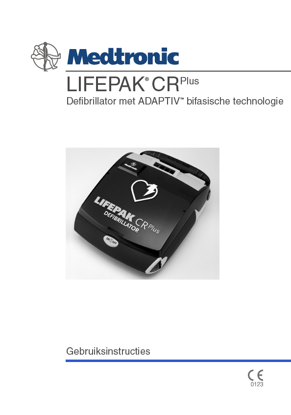 Handleiding Medtronic Lifepak CR PLUS AUTO AED