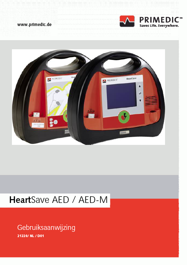 Handleiding Primedic HeartSave AED-M