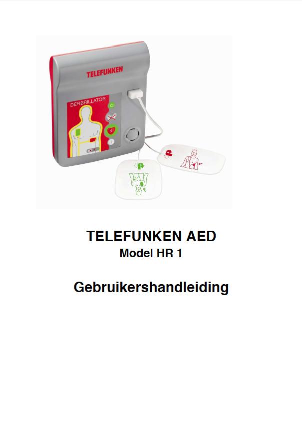 Handleiding Telefunken AED model HR 1