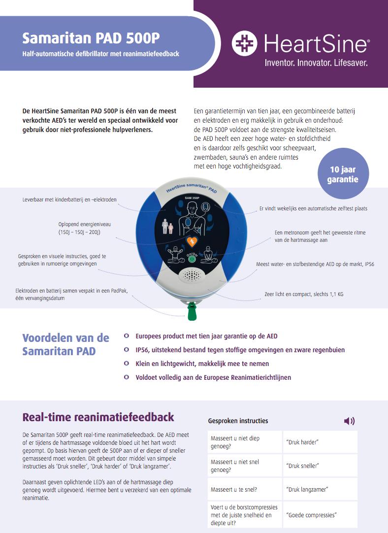 Brochure HeartSine Samaritan PAD 500p AED