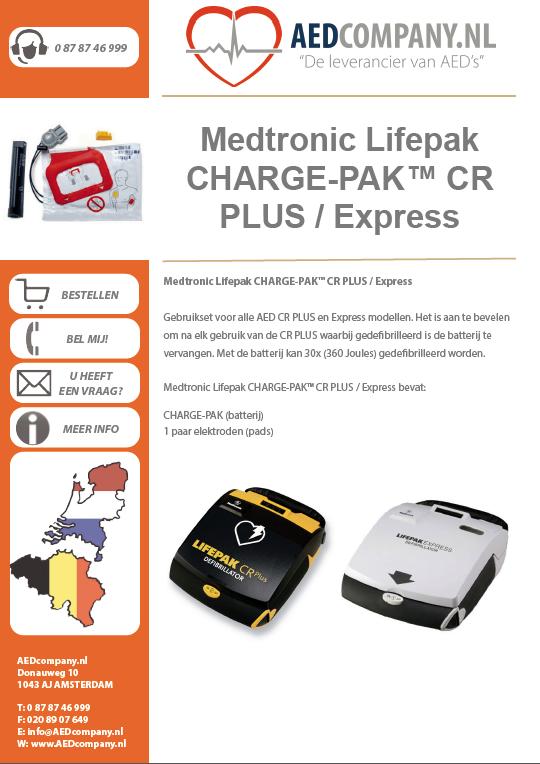 Medtronic Lifepak CHARGE-PAK™ CR PLUS / Express 11403-000002 brochure
