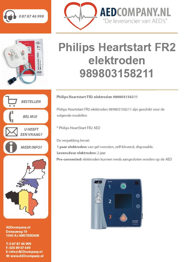 Philips Heartstart FR2 elektroden 989803158211 brochure