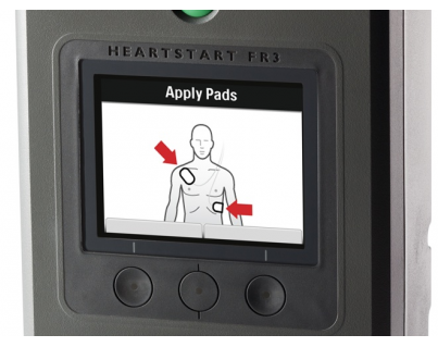 Philips HeartStart FR3 AED kleuren-LCD display