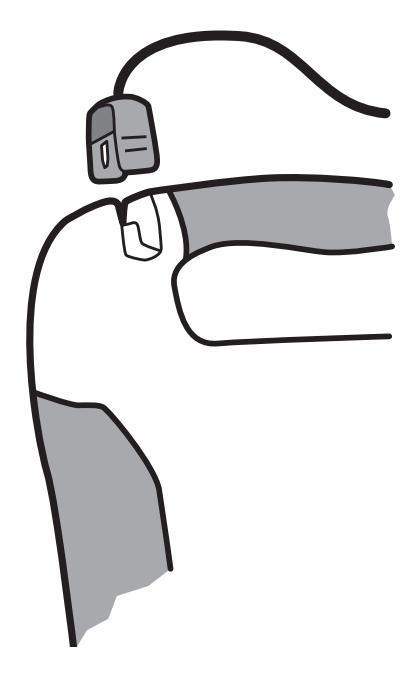 Plaats Defibtech Lifeline AED elektroden DDP-100 zwarte stekker in aansluitpunt van de Defibtech Lifeline AED