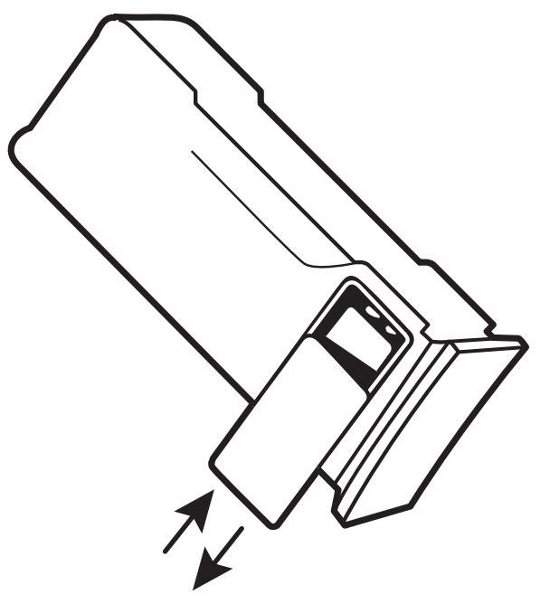 Plaats de kleine 9V batterij in de grote gele Defibtech Lifeline batterij DCF-210