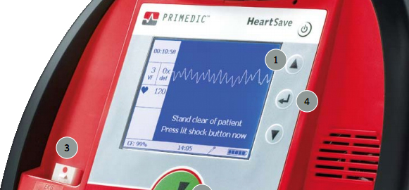Primedic HeartSave AED-M display