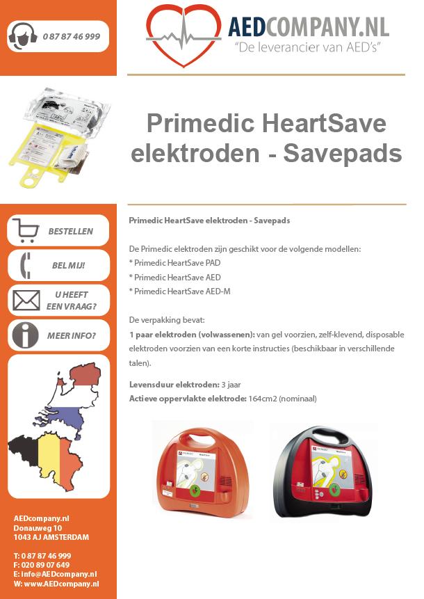 Primedic HeartSave elektroden - Savepads brochure