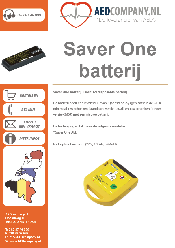 Saver One batterij brochure