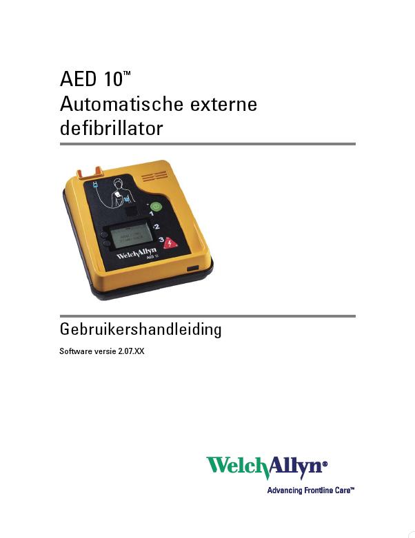 Handleiding Welch Allyn AED 10