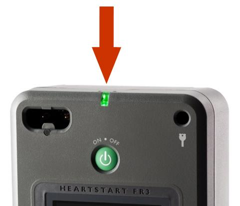 Philips HeartStart FR3 groen knipperende LED indicator ivm status AED