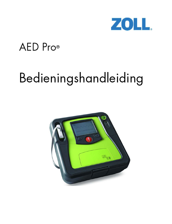 Handleiding ZOLL AED PRO