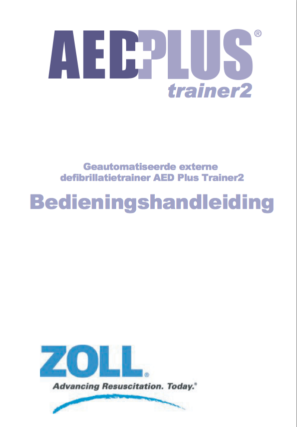 Handleiding ZOLL AED PLUS trainer