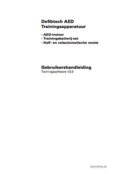 Handleiding Defibtech Lifeline trainer