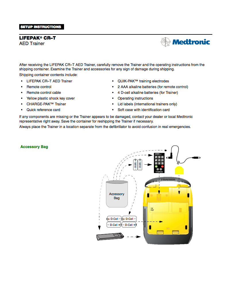 Handleiding Medtronic Lifepak CR PLUS trainer