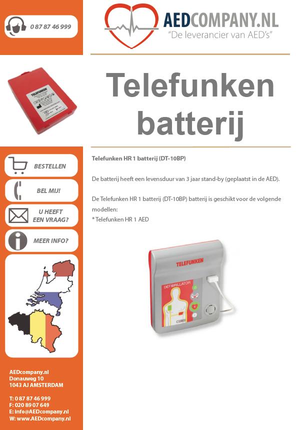Telefunken batterij brochure