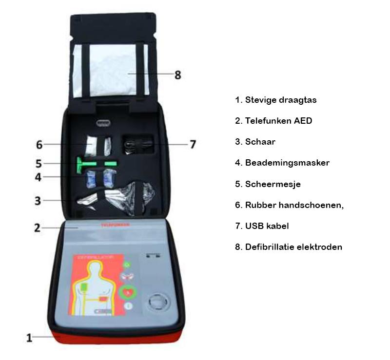 Telefunken AED compleet