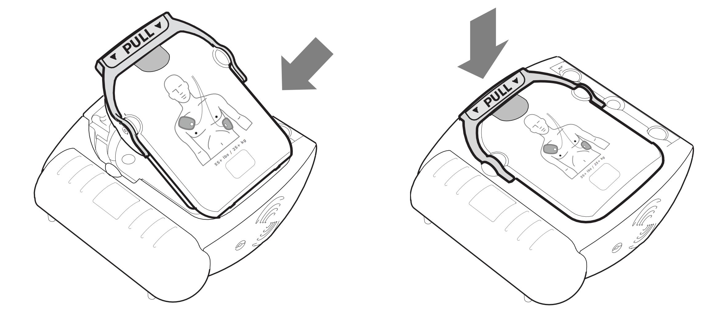 Vervangen Philips HeartStart HS1 elektroden voor volwassenen M5071A 3
