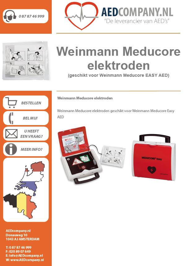 Weinmann Meducore elektroden geschikt voor Weinmann Meducore Easy AED brochure
