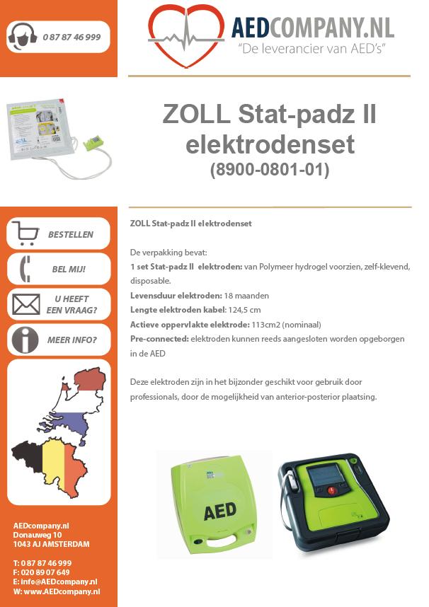 ZOLL Stat-padz II elektrodenset (8900-0801-01) brochure