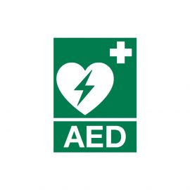 AED pictogram 15 X 20 cm (bordje) ILCOR AED logo polypropyleenbordje