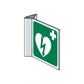 AED pictogram haakse uitvoering 15 X 15 cm ILCOR