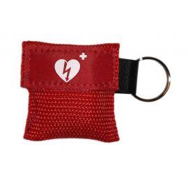 kiss of life sleutelhanger ilcor aed logo kleur rood 5 stuks