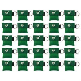 kiss of life sleutelhanger ilcor aed logo kleur groen 25 stuks