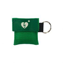 kiss of life sleutelhanger ilcor logo groen