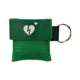 Kiss of Life sleutelhanger beademingsmasker groen aed ilcor logo
