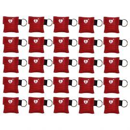 kiss of life sleutelhanger ilcor aed logo kleur ROOD 25 stuks