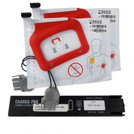 Physio-Control CHARGE-PAK 11403-000001 batterij en 2 sets elektroden combinatie pakket. Geschikt voor LIFEPAK CR Plus - Express AED.