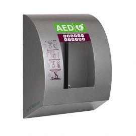SixCase SC1440 AED buitenkast alarm verwarming verlichting ventilator touchscreen pincode fan-koeling zijaanzicht RVS