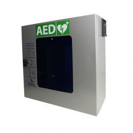 SmartCase SC1230 AED buitenkast verwarmd, alarm, verlichting & ventilator RVS Sixcase grijs