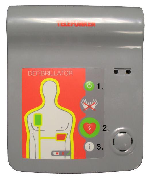 Telefunken AED defibrillator pictogrammen