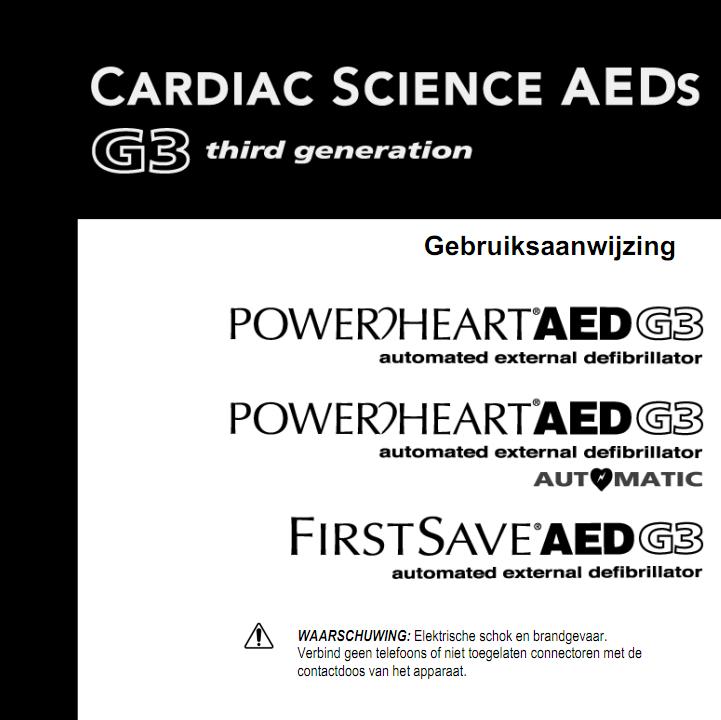 Handleiding Handleiding Cardiac Science Powerheart G3 semi-automaat AED